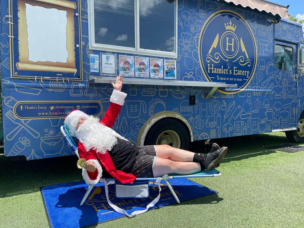 Christmas in July, breakfast with Santa in Sarasota, FL