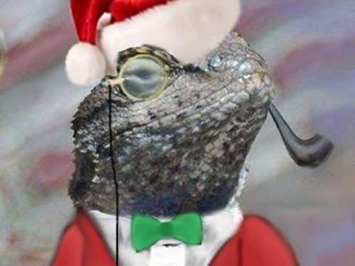 The admittedly beguiling Twitter avatar for @LizardMafia, an account taking credit for the attacks