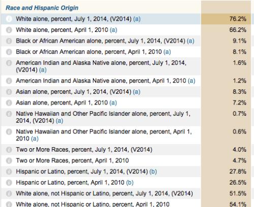 racial demographics