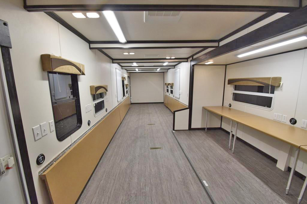 command trailer interior