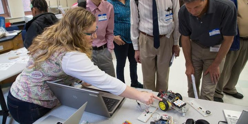 SPRKing Student Interest in STEM Through Robotics and Coding