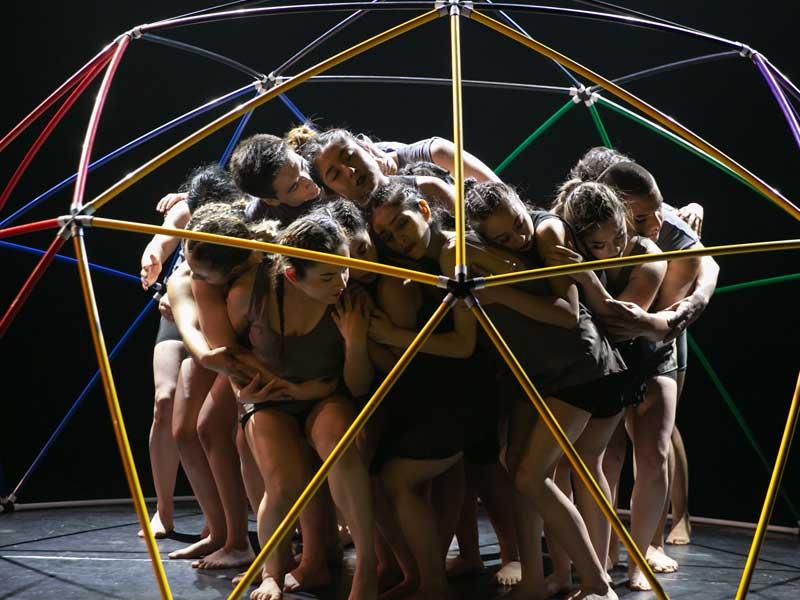 Arts students performing interpretive dance