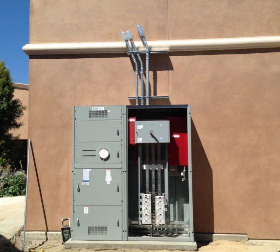 wood electric meter box panel box