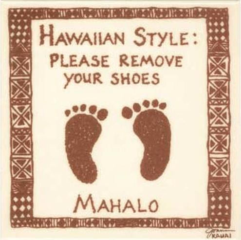 Bare Feet Hawaiian Style Tile