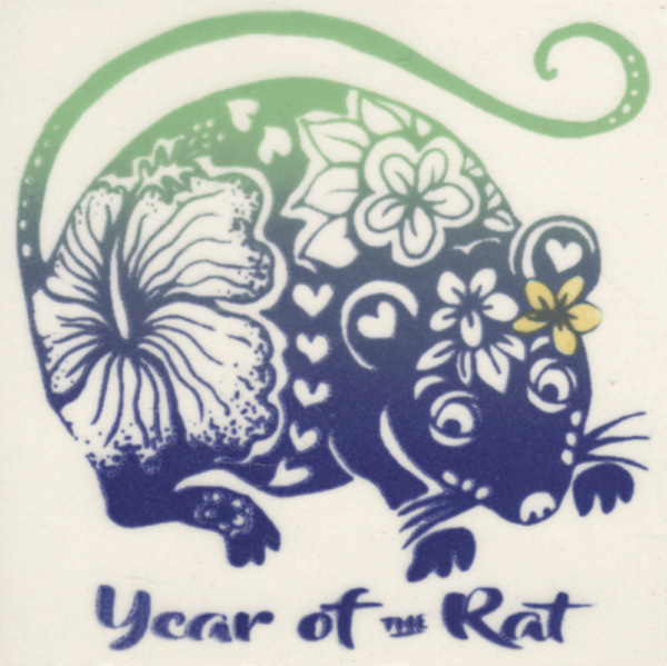 """Year of the Rat 4"""" Tile"""