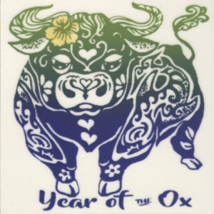 "Year of the Ox 4"" Tile"