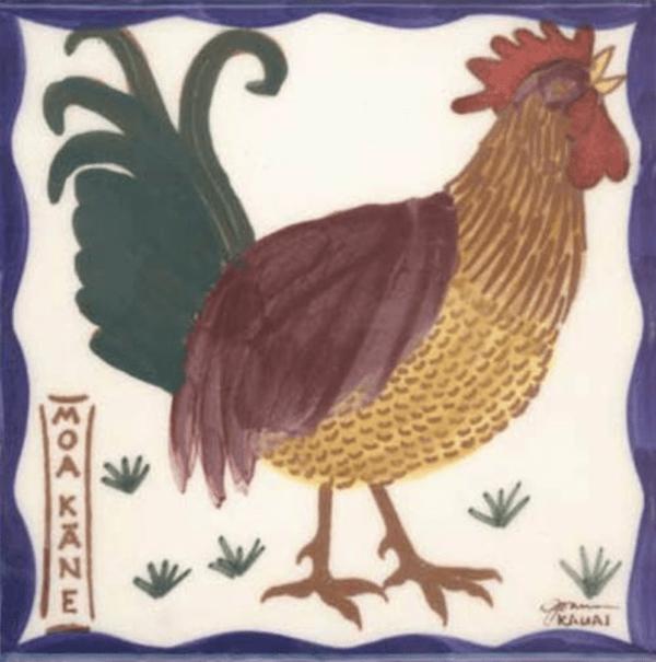 Hawaiian Rooster Tile