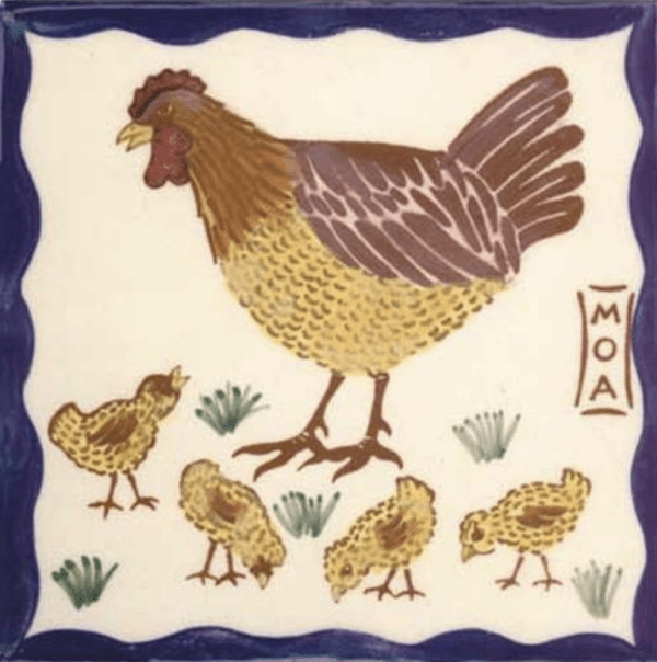 "Hawaiian Hen & Chicks 6"" Tile"