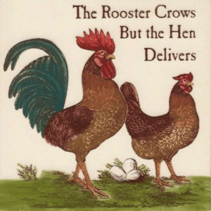 The Rooster Crows Tile