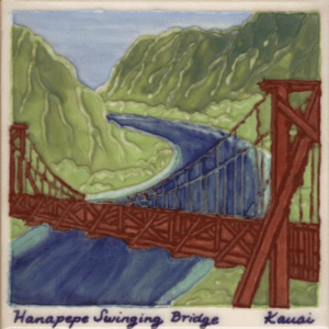 Swinging Bridge Scenic Tile
