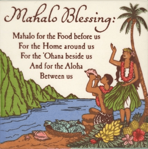 Mahalo Blessing Tile