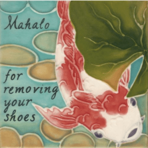 Koi Fish Remove Shoes Tile