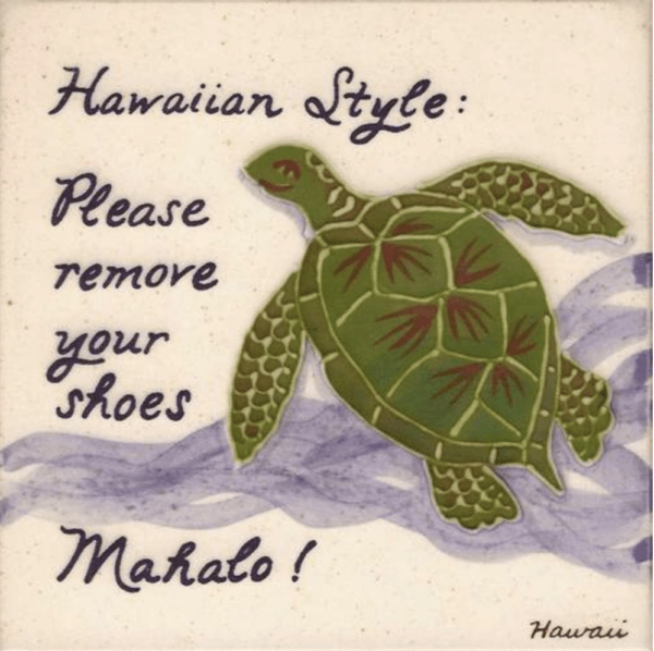 Embossed Turtle Remove Shoes Tile