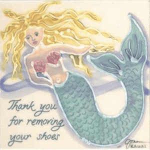 Mermaid Thank You Remove Shoes Tile