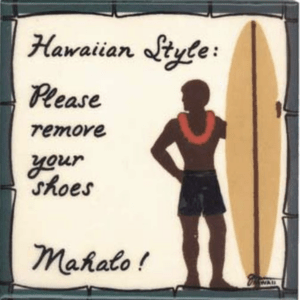 Surfer Boy Hawaiian Style Tile