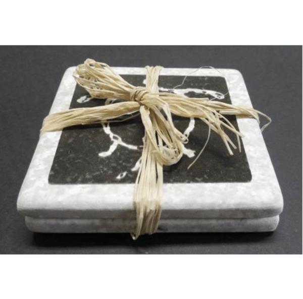 Black Lava Honu Coasters set of 2
