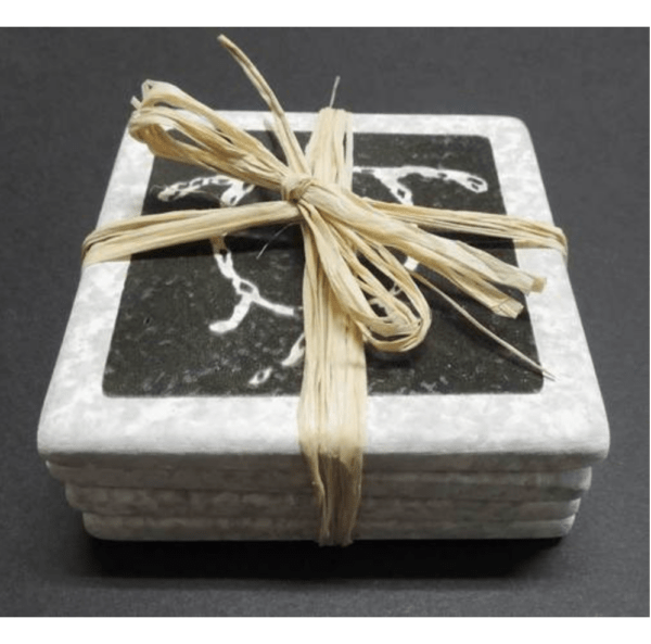 Black Lava Honu Coasters set of 4