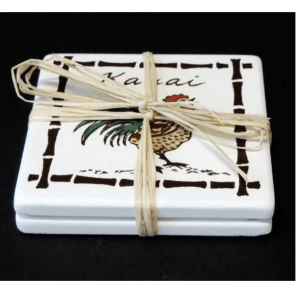 Kauai Rooster Coasters set of 2