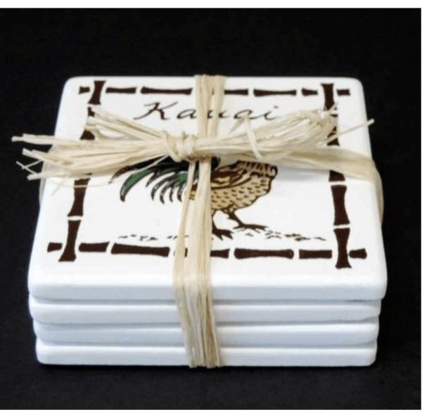 Kauai Rooster Coasters set of 4