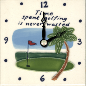 "Time Spent Golfing 4"" Clock"