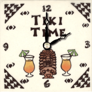 "Tiki Time 4"" Clock"