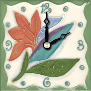 "Bird-Paradise 4"" Clock"