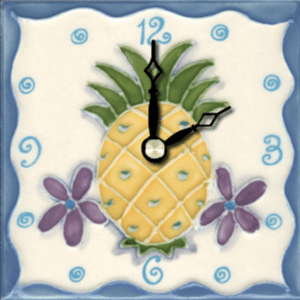 "Pineapple 4"" Clock"