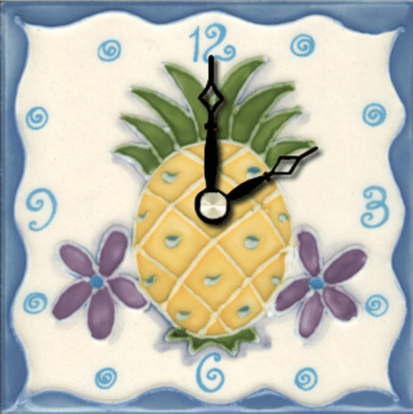 "Pineapple 4"" Clock"