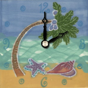 """Palm Tree 4"""" Clock"""