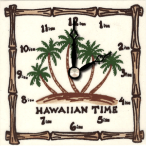 "Hawaiian Palms 4"" Clock"