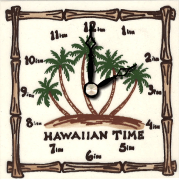 "Hawaiian Palms 4"" Clock"