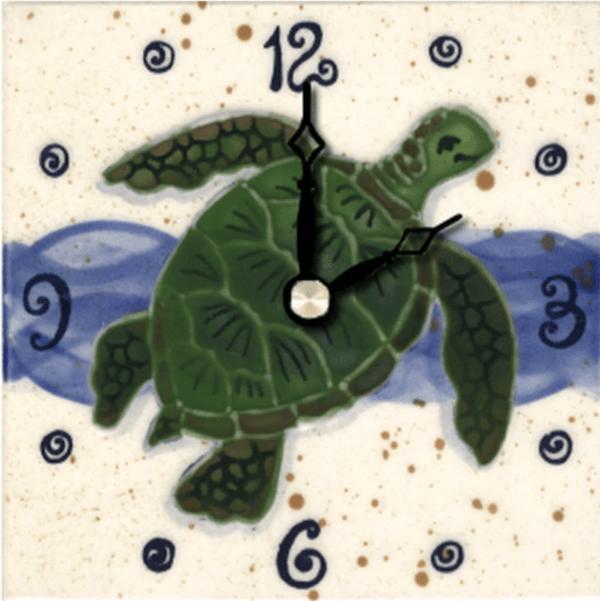 """Green Sea Turtle 4"""" Clock"""