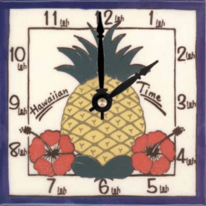 "Pineapple HI Time 6"" Clock"