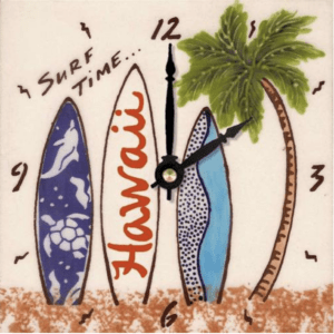 "Surf Time 6"" Clock"