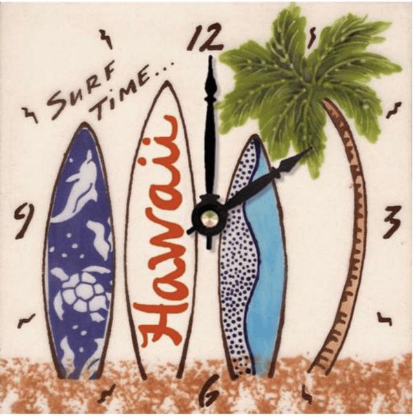 "Surf Time 6"" Clock"