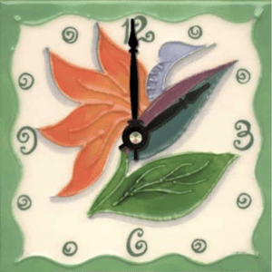"Bird-of-Paradise 6"" Clock"