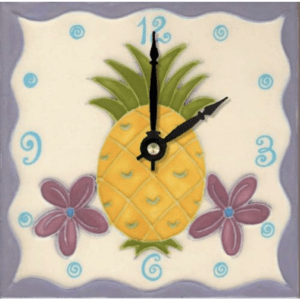 "Pineapple 6"" Clock"