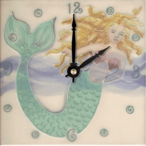 "Tropical Mermaid 6"" Clock"