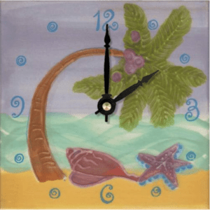 "Palm Tree 6"" Clock"