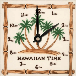 "HI Time Palm 6"" Clock"