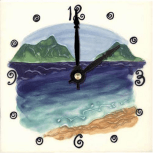 "Mokulua Islands 6"" Clock"