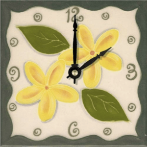 "Tropical Plumeria 6"" Clock"