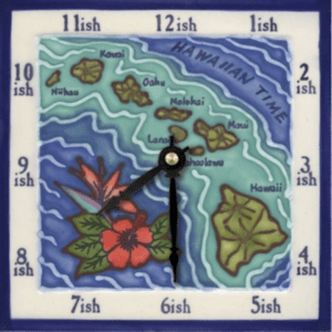 "Hawaiian Islands 6"" Clock"