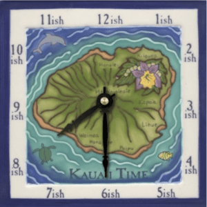 "The Island of Kauai 6"" Clock"