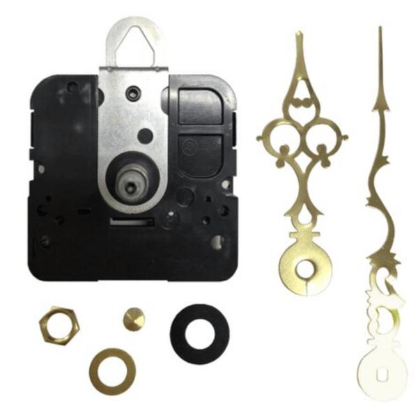 Lg. Quartz Pottery Clock Replacement Motor Kit Gold