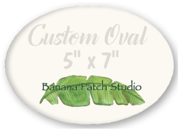 "Custom 5""x7"" Oval Plaque"