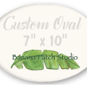 "Custom 7""x10"" Oval Plaque"