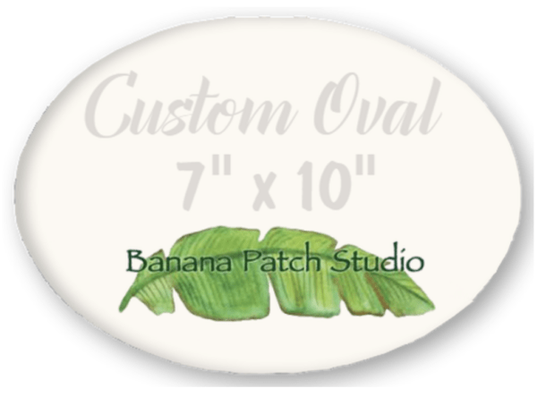 "Custom 7""x10"" Oval Plaque"