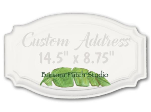 "Custom 14.5""x8.75"" Address Plaque"