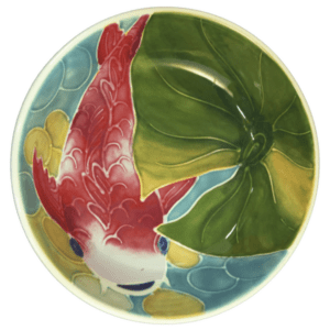 "8"" Coupe Pasta Bowl Tropical Koi Fish"